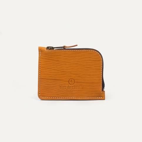 As zipped purse - Gold/Cork