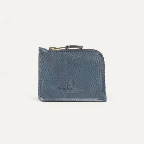 As zipped purse - indigo