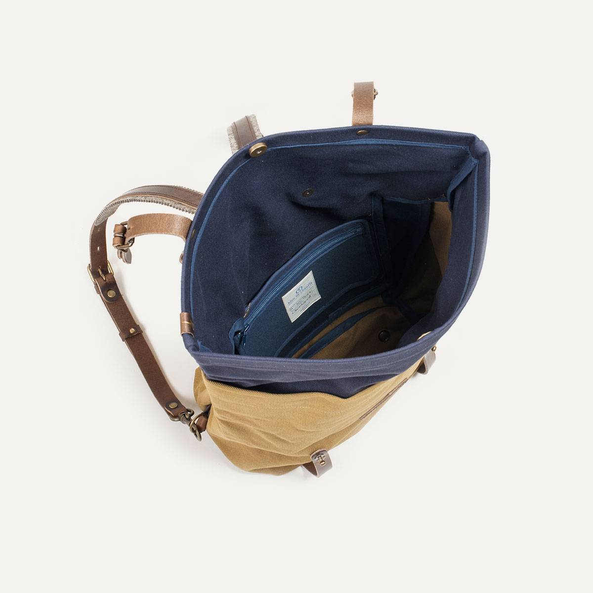 Blitz Motorcycles Scout Backpack - Navy/Camel (image n°6)