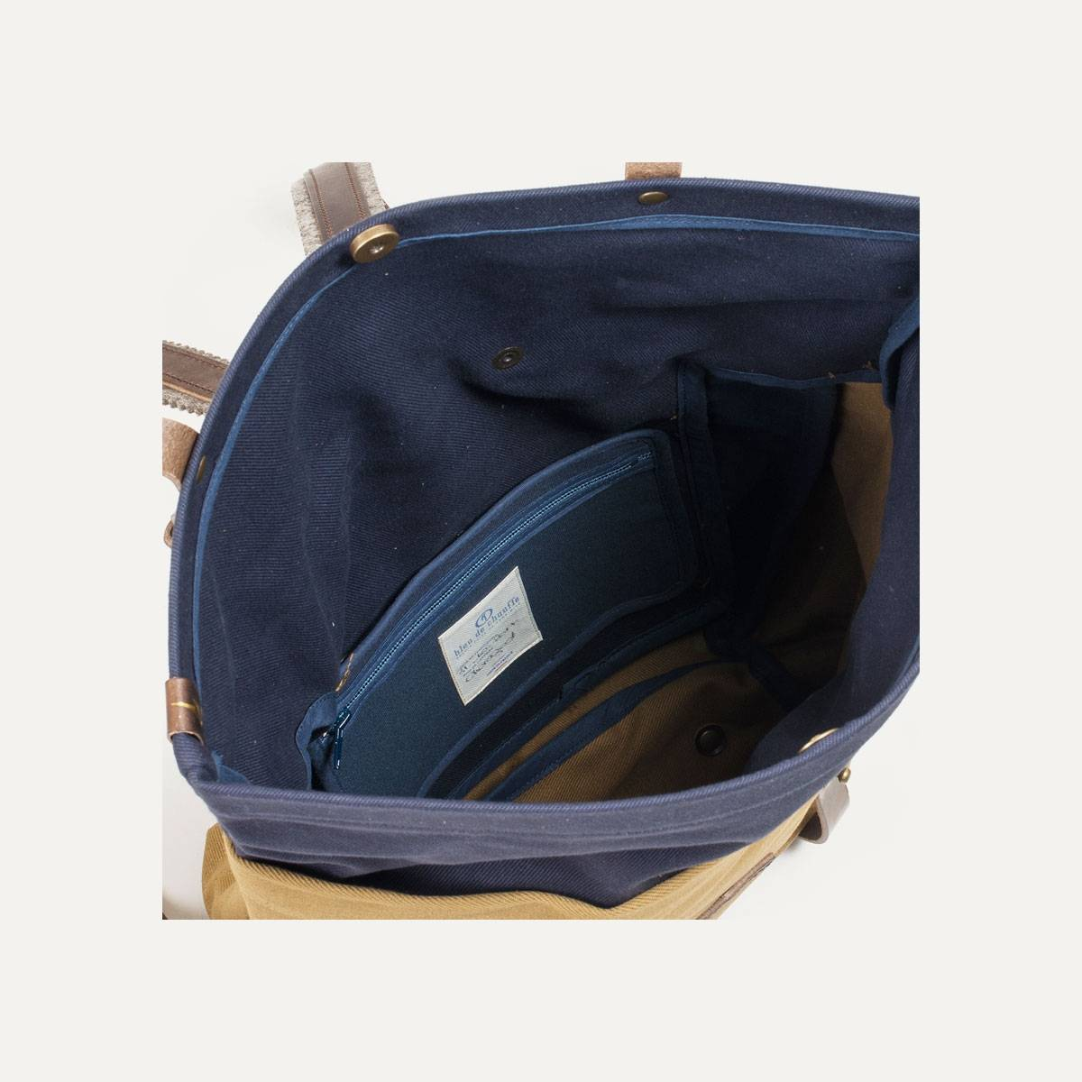 Blitz Motorcycles Scout Backpack - Navy/Camel (image n°7)