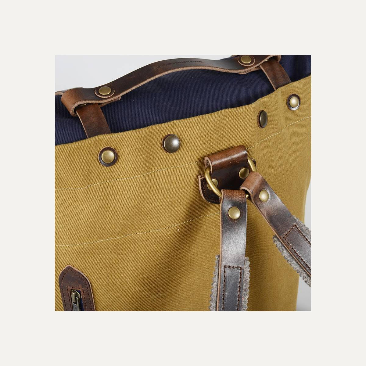 Blitz Motorcycles Scout Backpack - Navy/Camel (image n°8)
