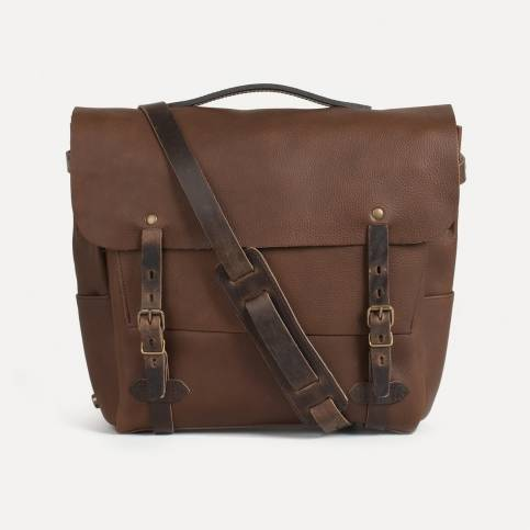 Postman bag Eclair L - Military Brown