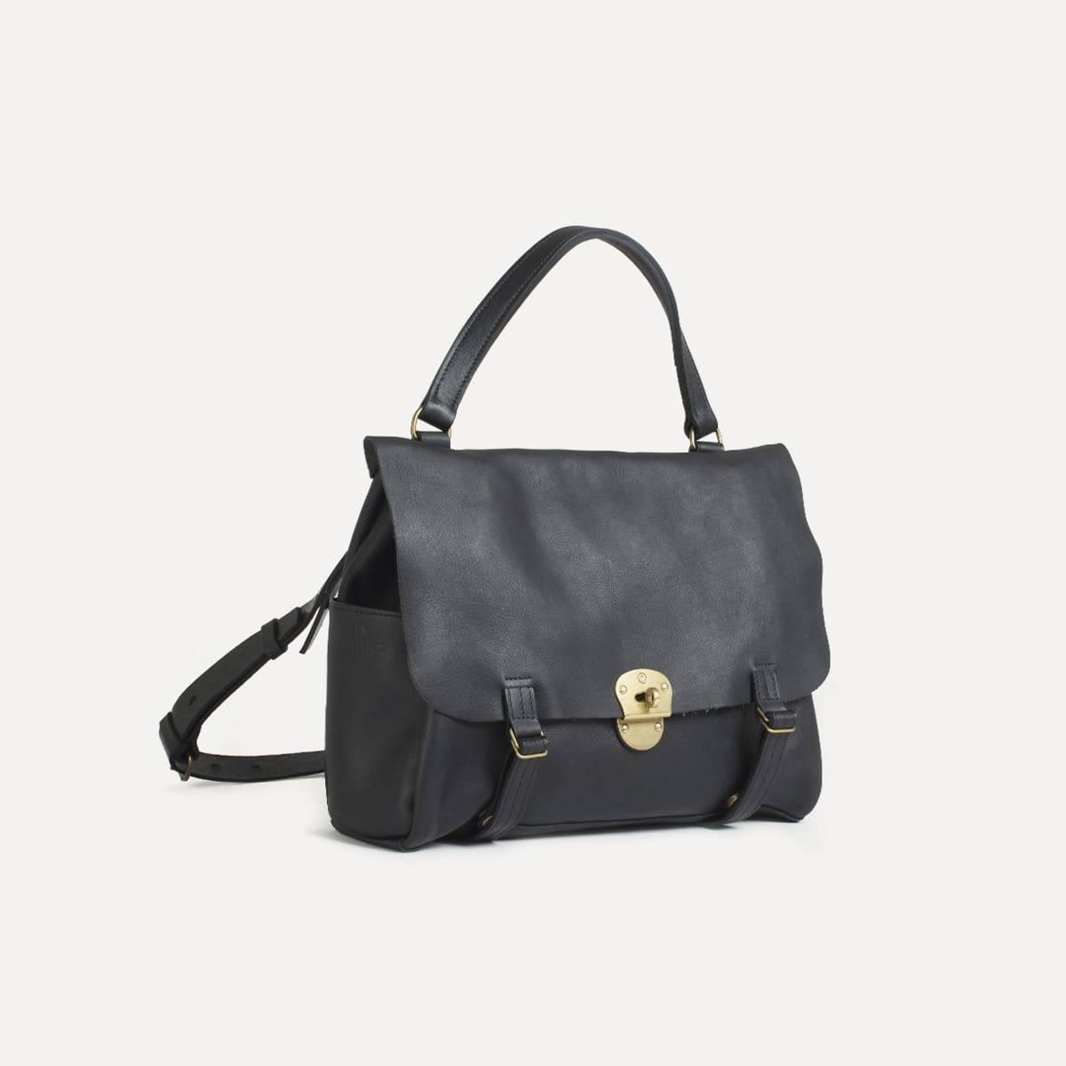 sac femme coline cuir noir souple et fin bleu de chauffe. Black Bedroom Furniture Sets. Home Design Ideas