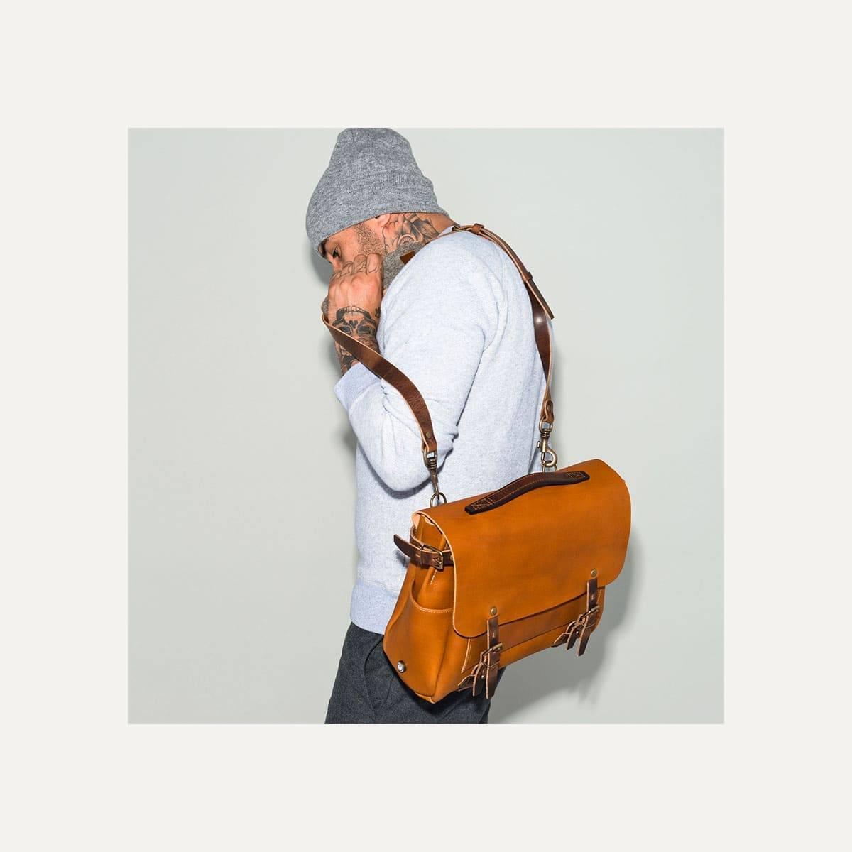Postman bag Eclair M - Pain brulé  (image n°9)