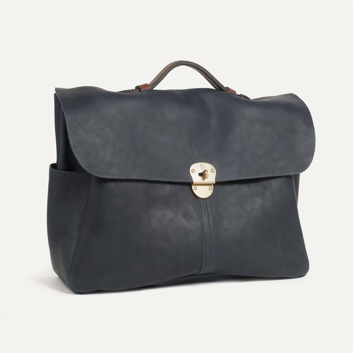 sac porte ordinateur charles i sac cuir homme bleu de. Black Bedroom Furniture Sets. Home Design Ideas