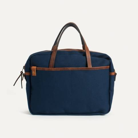 Report Business bag - Navy Blue Canvas