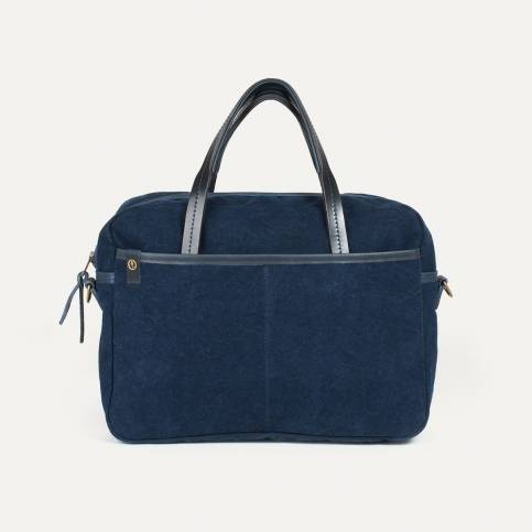 Business bag Report Canvas and Leather - Indigo