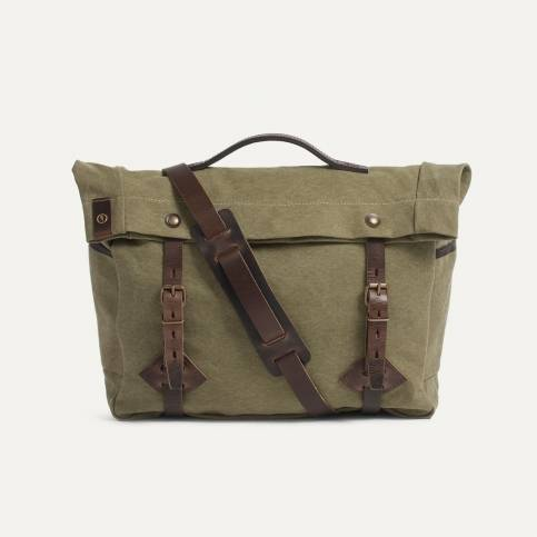 "Gaston tool bag – ""Musette"" - Khaki Jeep"