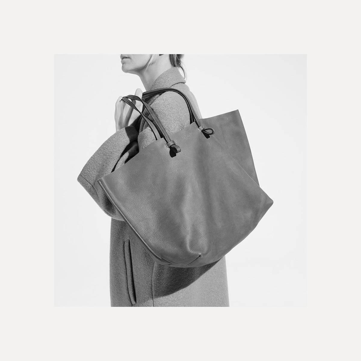 sac cabas cuir souple joy made in france bleu de chauffe. Black Bedroom Furniture Sets. Home Design Ideas