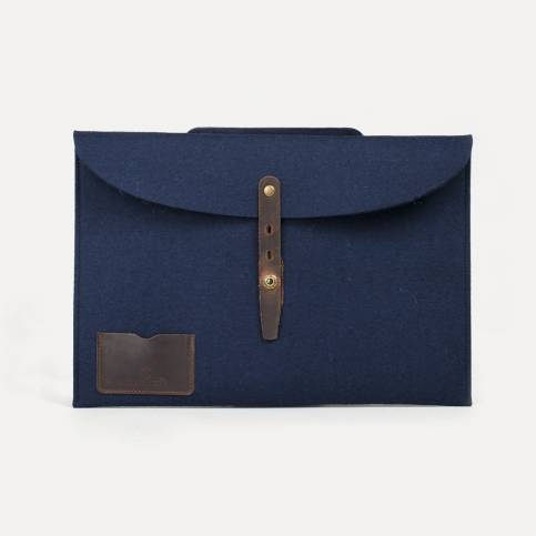 "Misha 15"" Laptop sleeve - Blue felt"