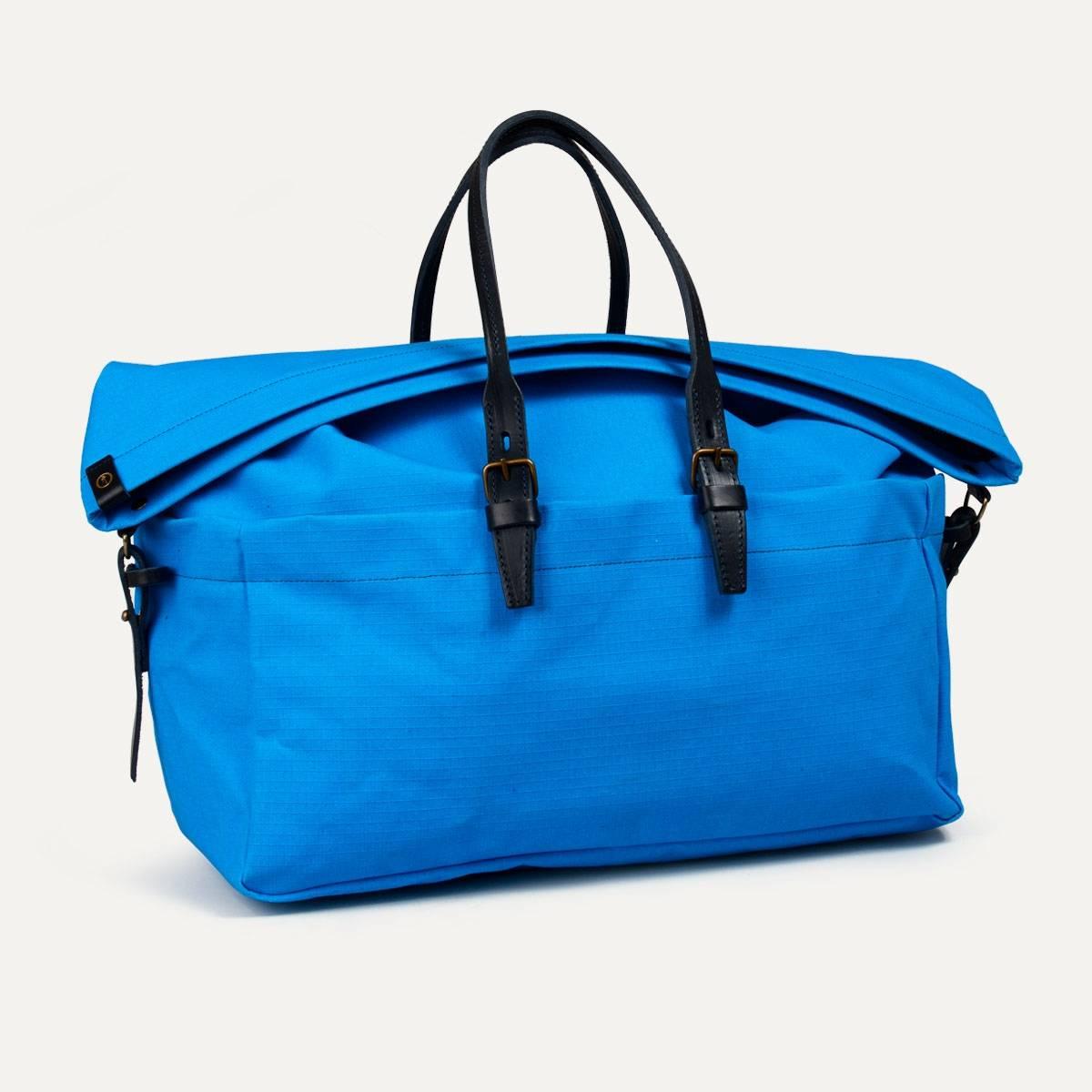 sac de voyage toile cuir homme made in france bleu. Black Bedroom Furniture Sets. Home Design Ideas