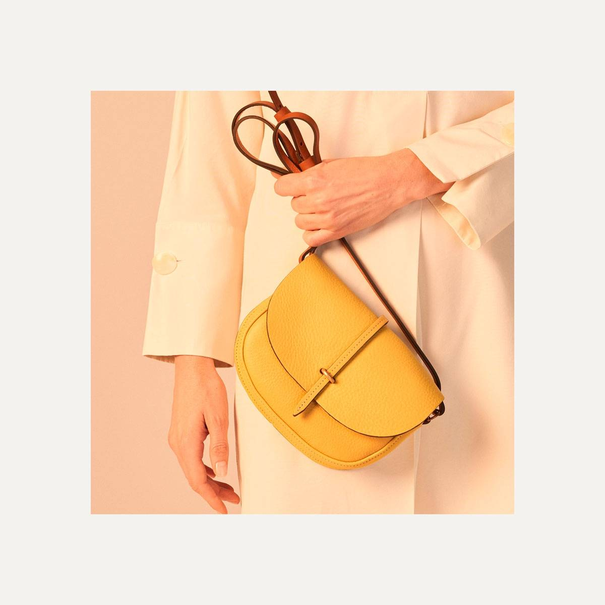 Java mini Postman bag - Yellow (image n°10)