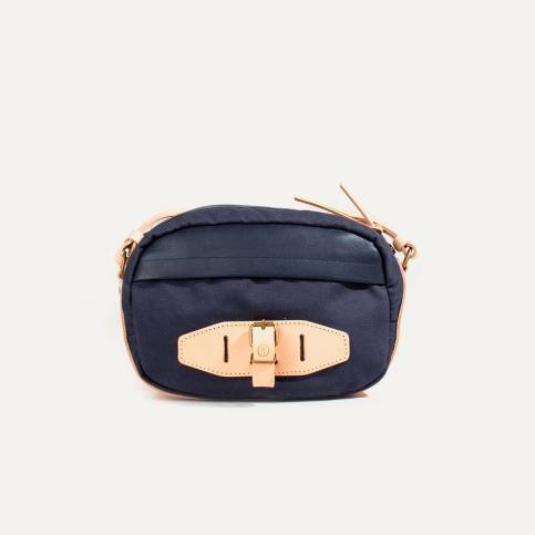 Street bag Banane M - Navy blue/Natural