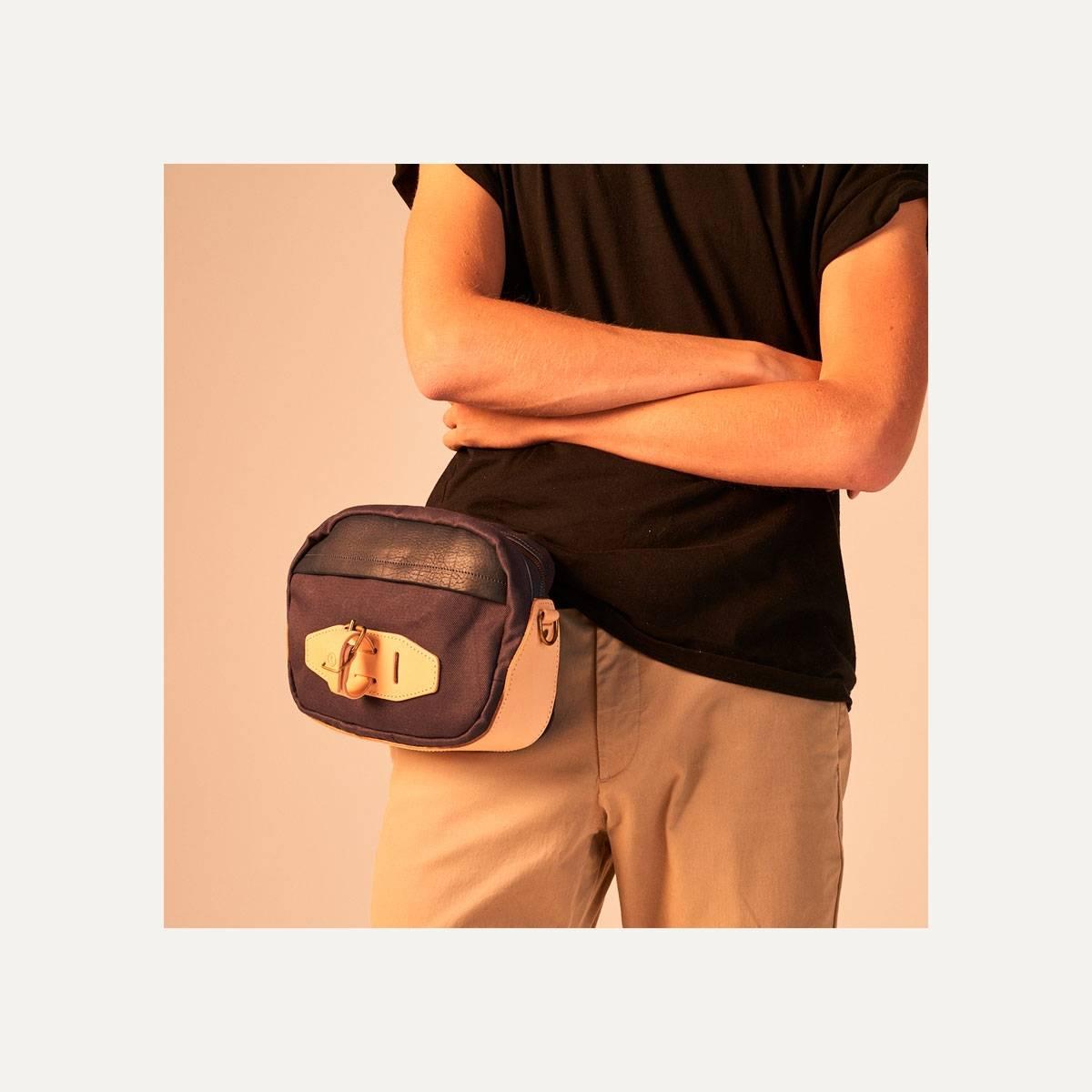 Honshu Belt bag - Navy blue/Natural (image n°7)