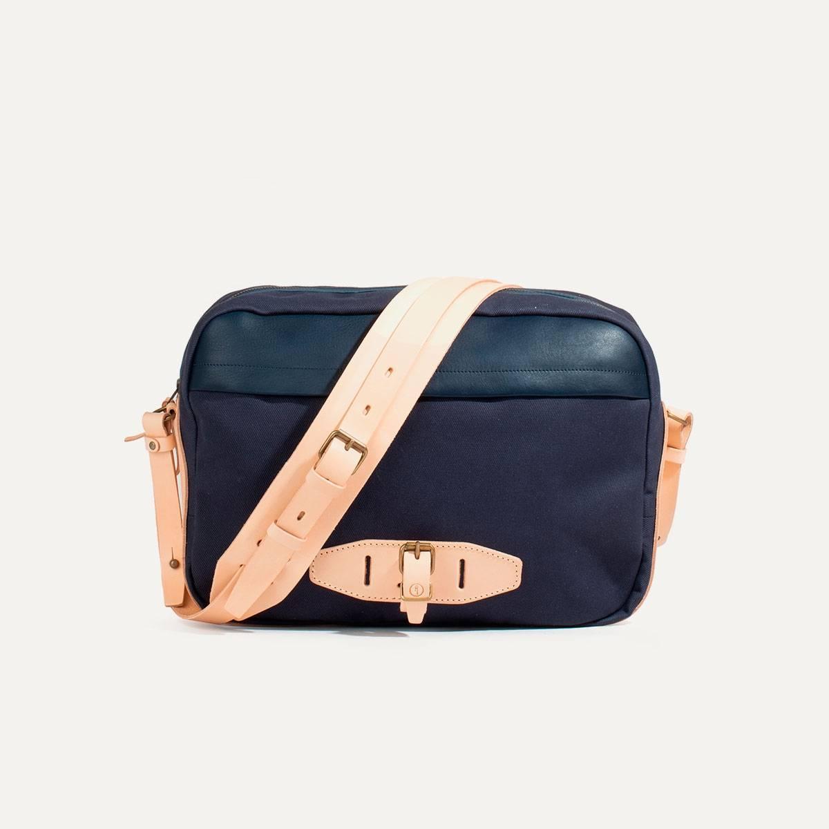 Uzu Belt bag - Navy blue / Natural (image n°1)
