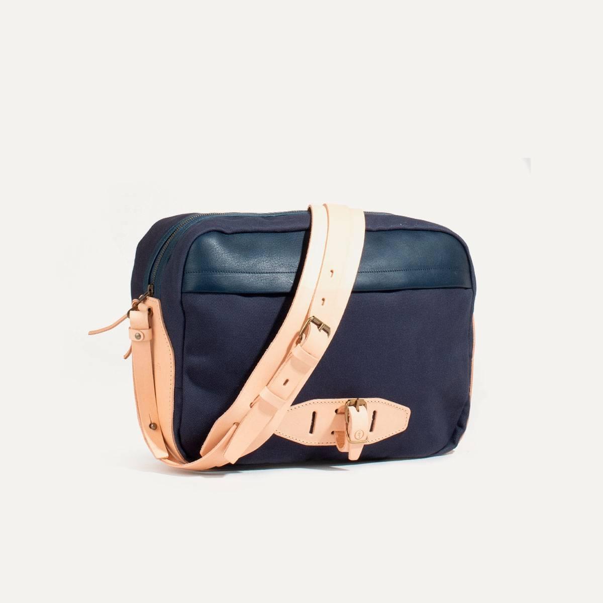 Uzu Belt bag - Navy blue / Natural (image n°2)
