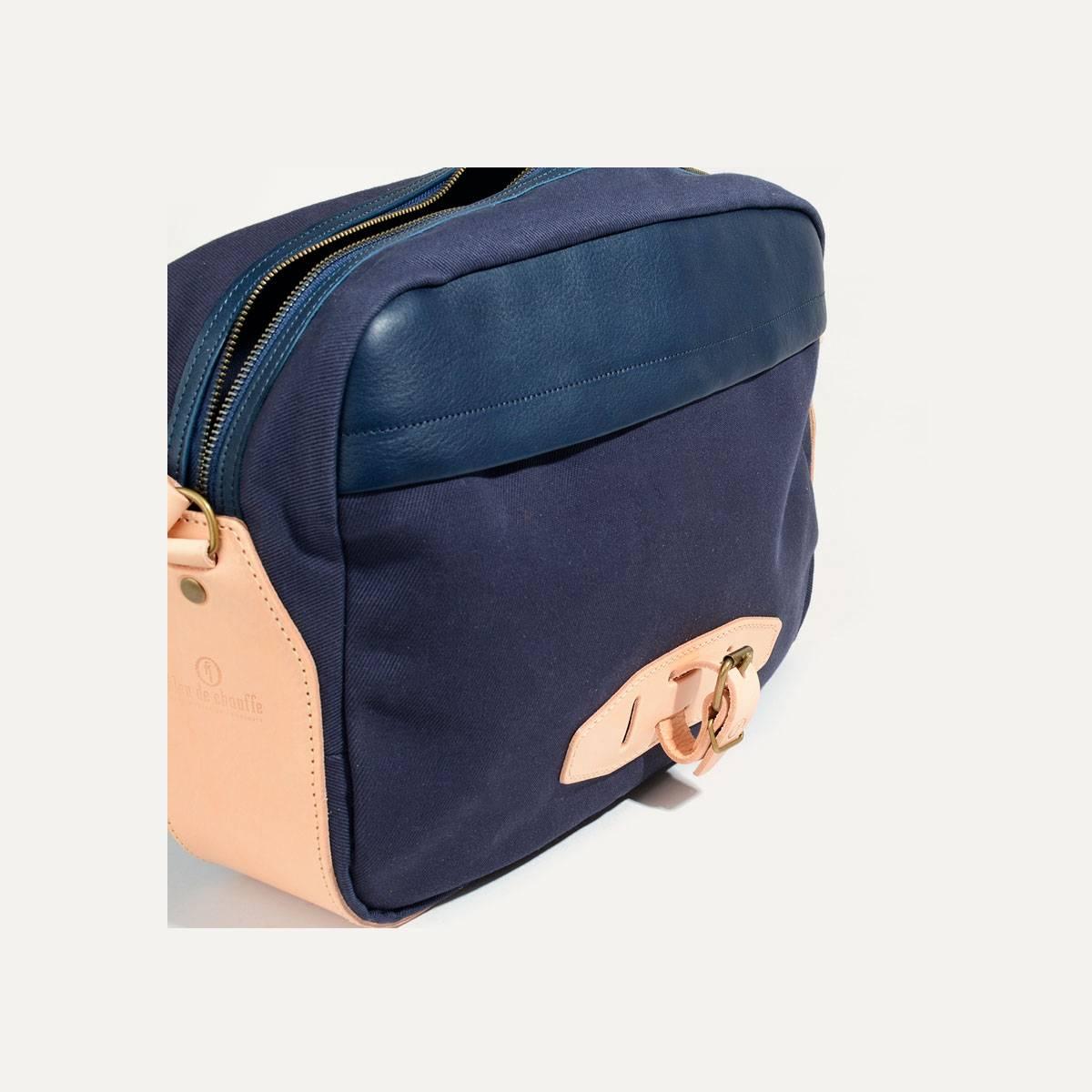 Uzu Belt bag - Navy blue / Natural (image n°4)