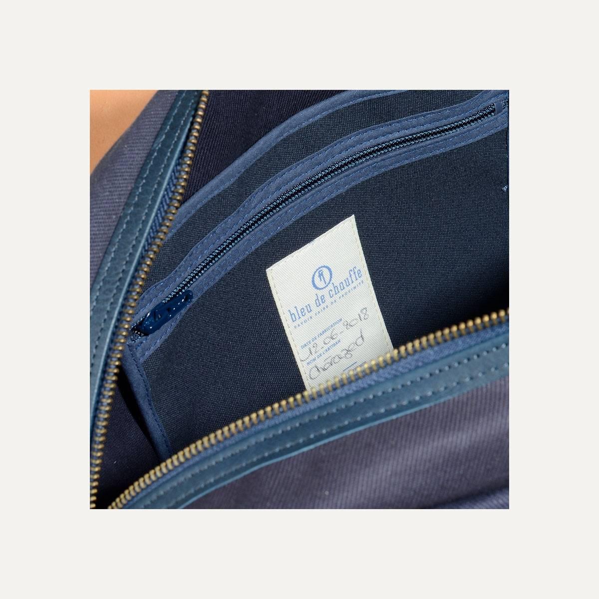 Uzu Belt bag - Navy blue / Natural (image n°5)