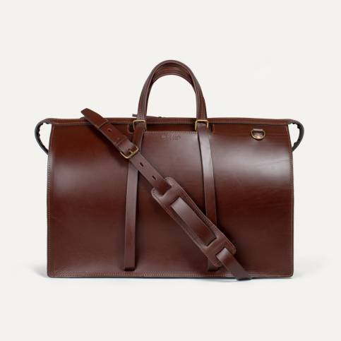 Jules Leather Holdall - Pain Brûlé