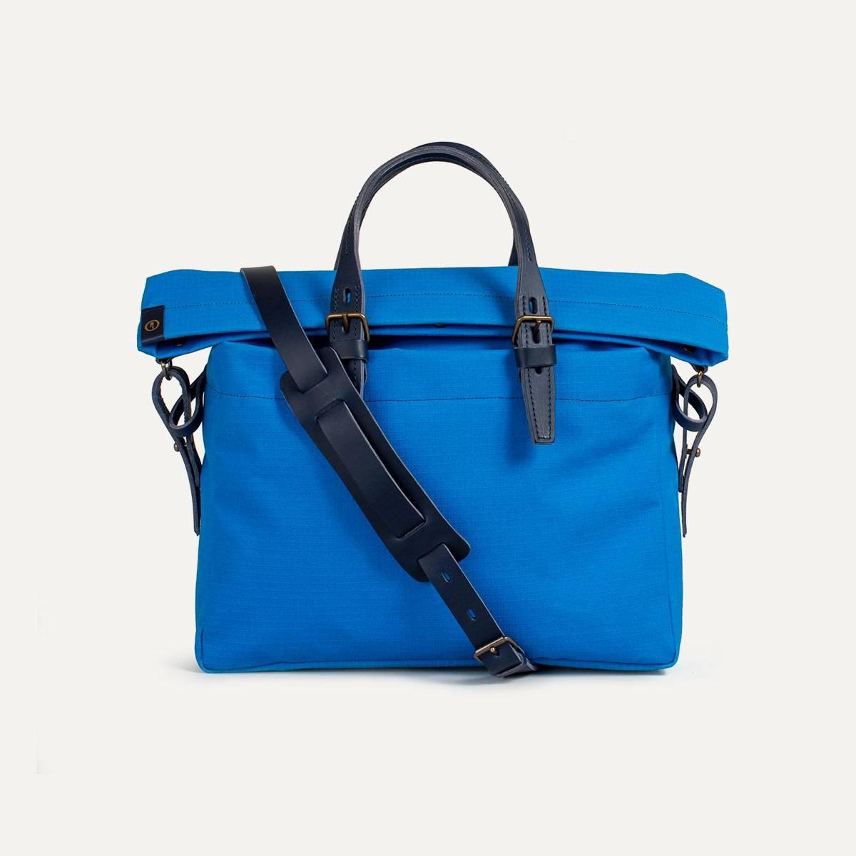 sac briefcase toile et cuir i inspiration outdoor bleu. Black Bedroom Furniture Sets. Home Design Ideas