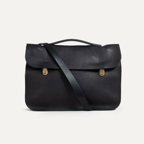Leather Satchel Groucho - Black