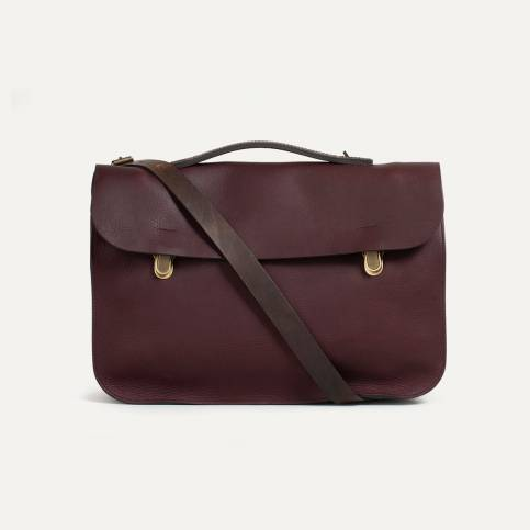 Leather Satchel Groucho - Peat