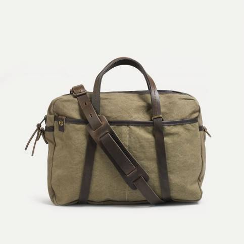 Business bag Report - khaki stonewashed