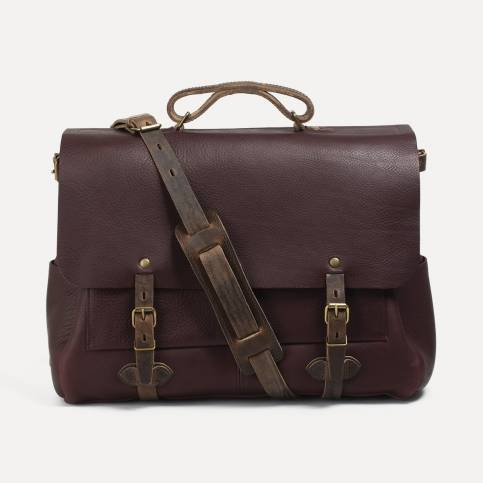 48h Irving Executive Postman bag - Peat