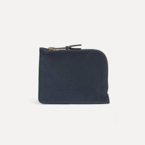 As zipped purse - Navy Blue