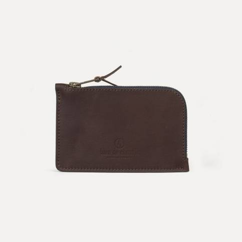 Pognon zipped purse - Peat
