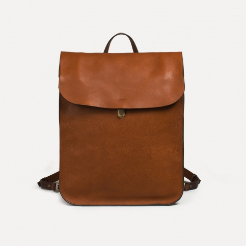 Arlo leather backpack - Pain Brûlé
