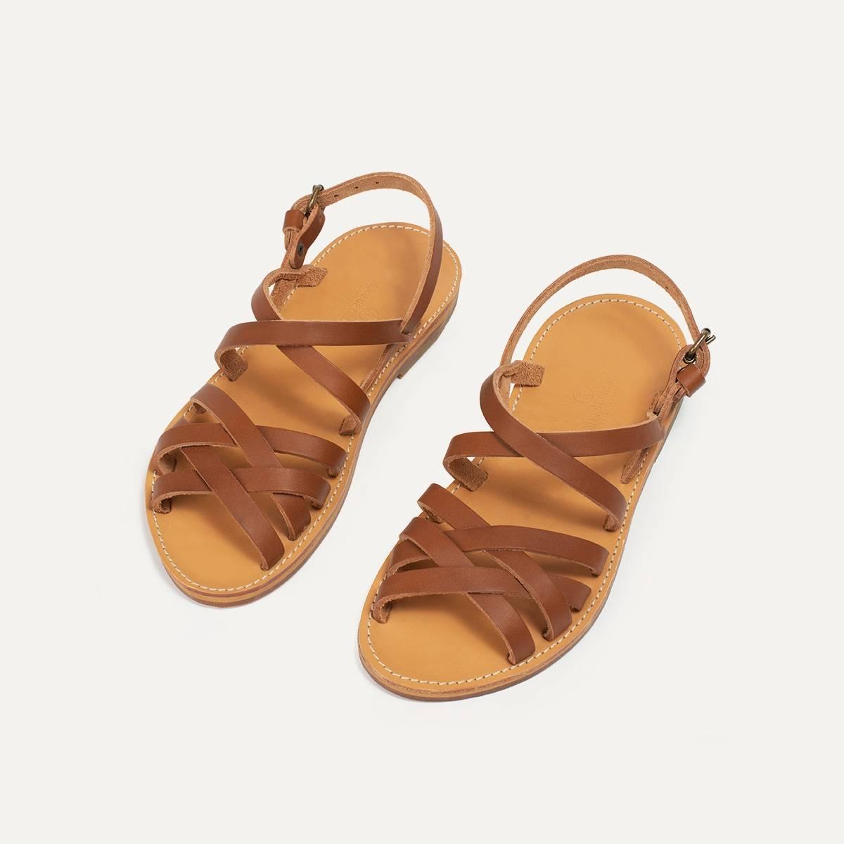 Sandales cuir Majour - Pain Brûlé (image n°4)