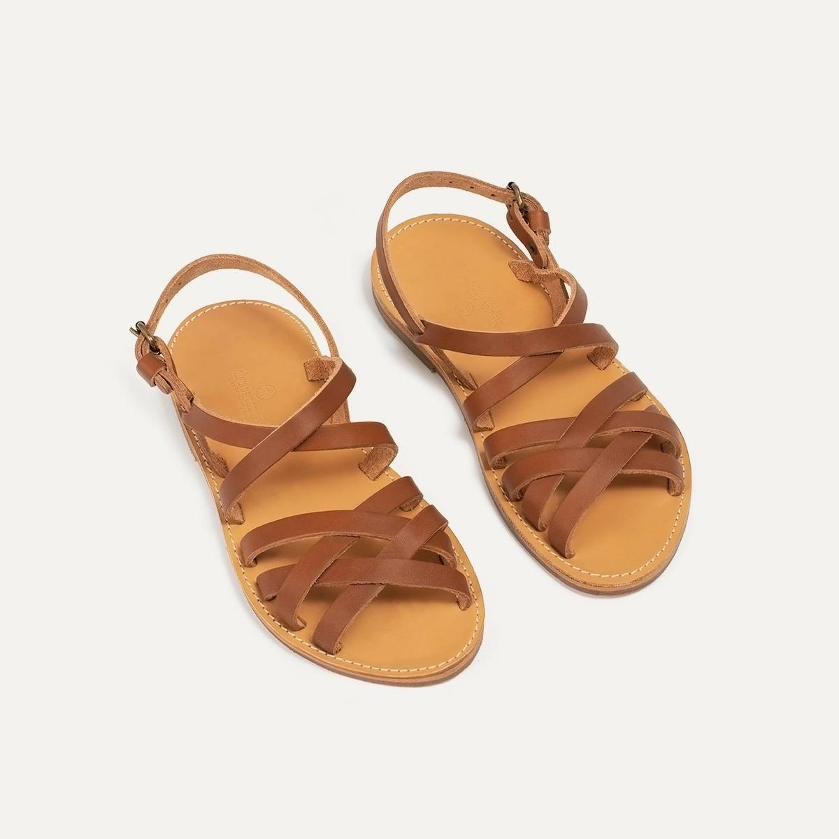 Sandales cuir Majour - Pain Brûlé (image n°3)