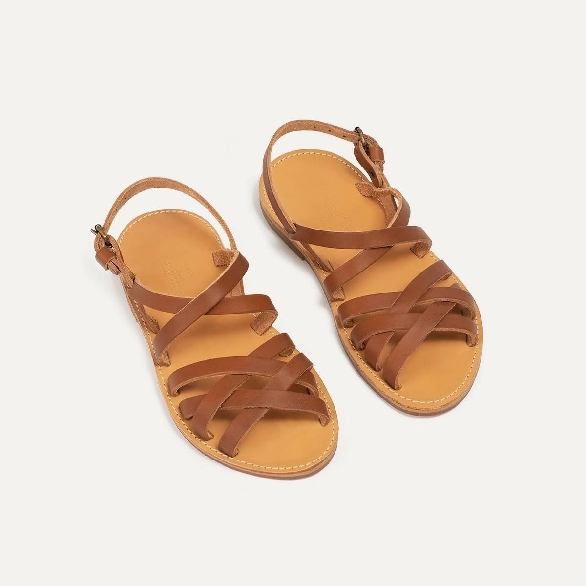 Majour leather sandals - Pain Brûlé (image n°3)