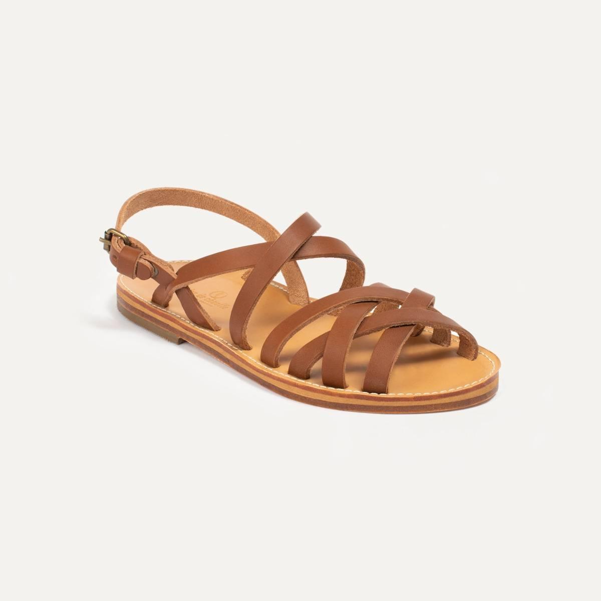 Sandales cuir Majour - Pain Brûlé (image n°2)