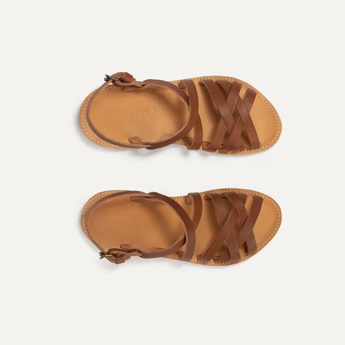 Sandales cuir Majour - Pain Brûlé (image n°1)