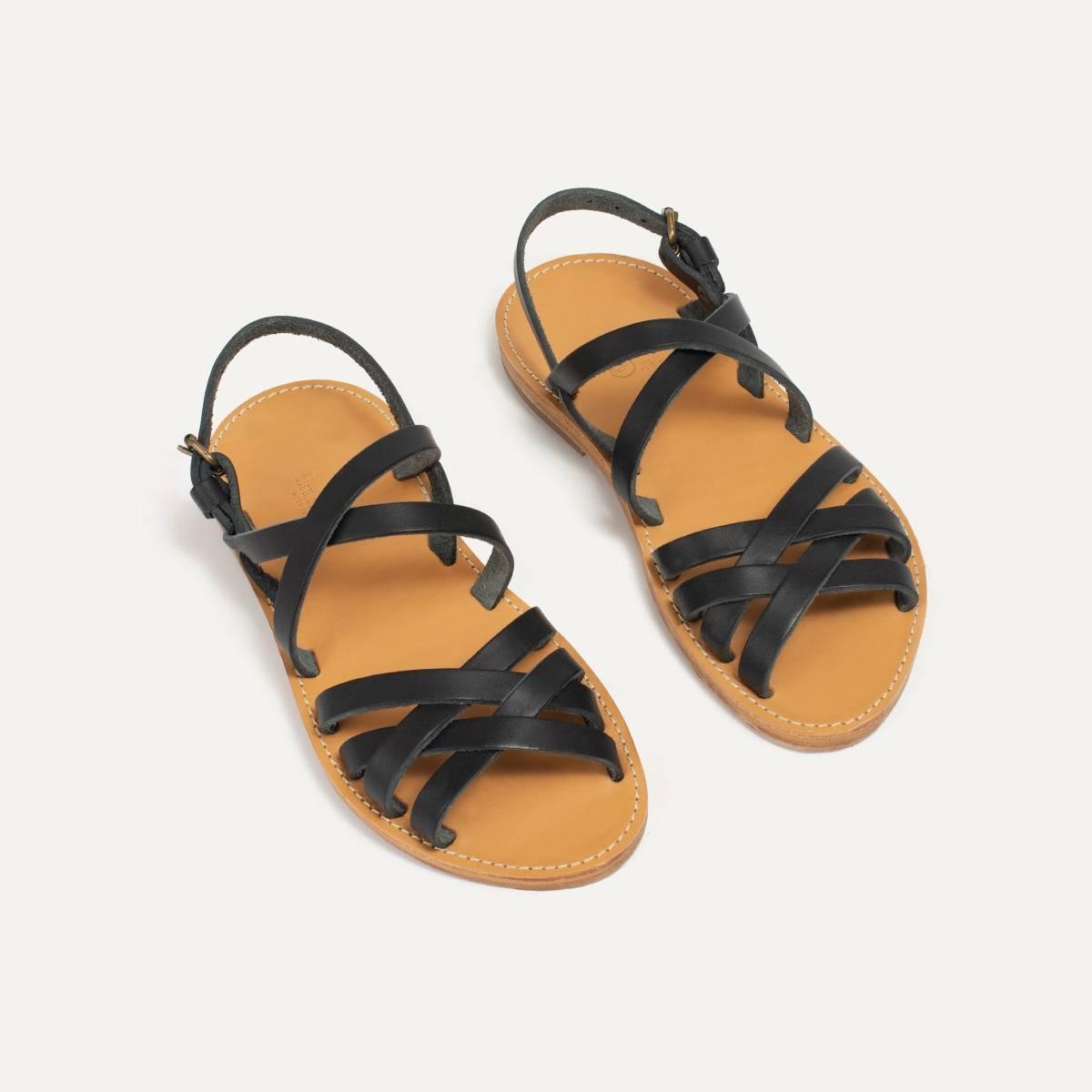 Sandales cuir Majour - Noir (image n°3)