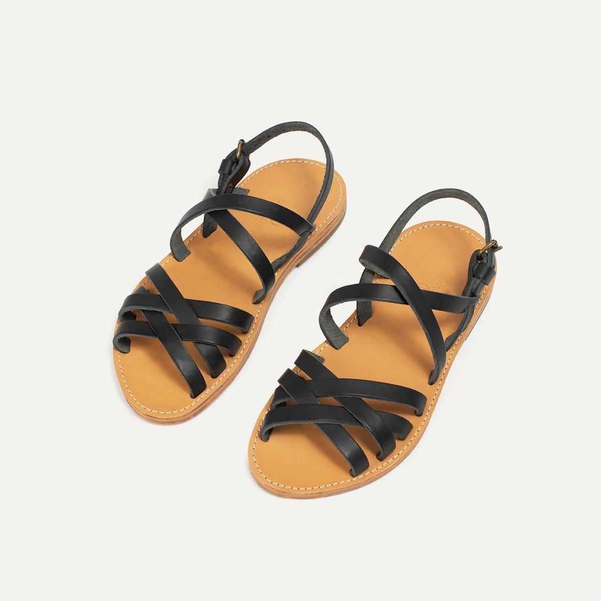 Sandales cuir Majour - Noir (image n°4)