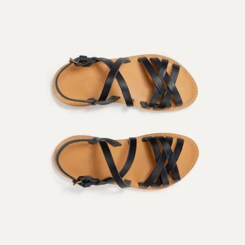 Majour leather sandals - Black