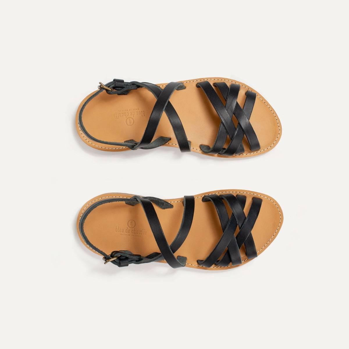 Sandales cuir Majour - Noir (image n°1)