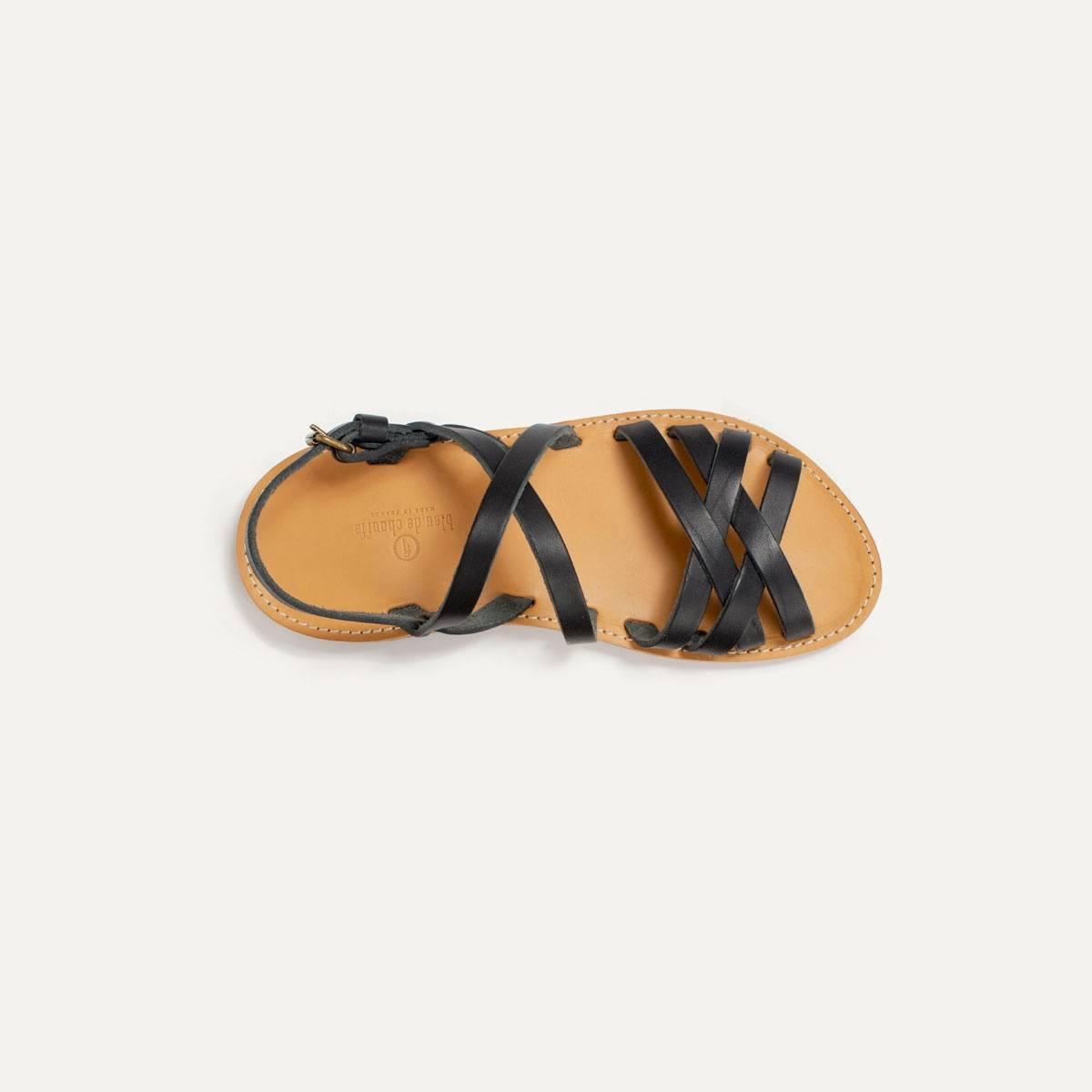 Sandales cuir Majour - Noir (image n°6)