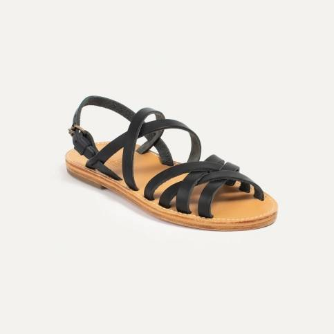 Majour leather sandals - Black