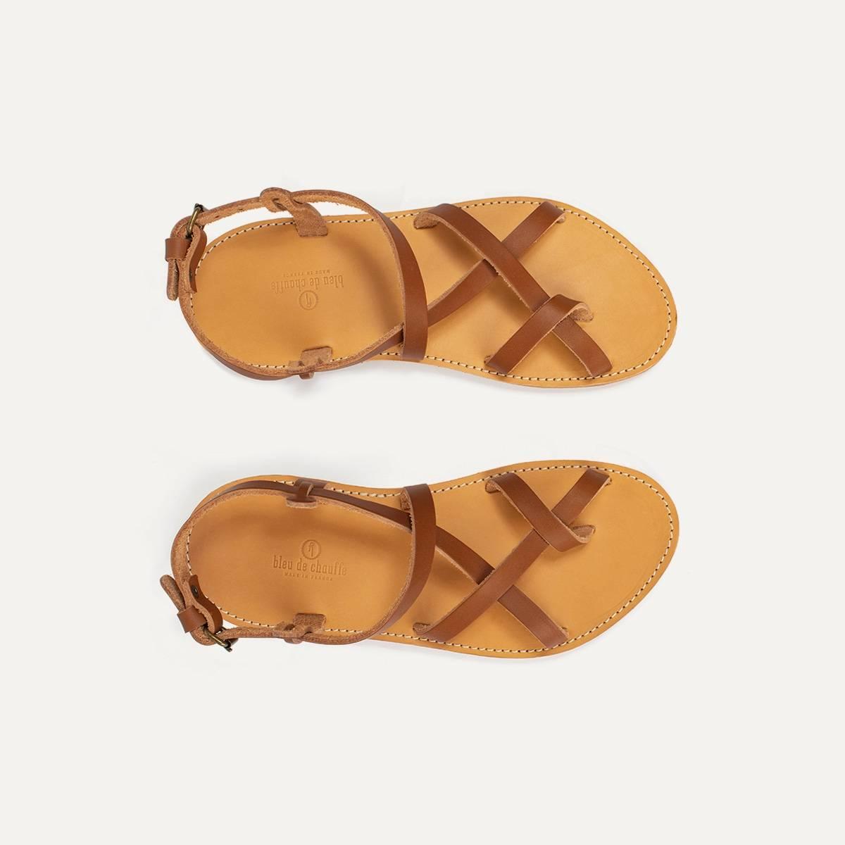 Nara leather sandals - Pain Brûlé (image n°1)