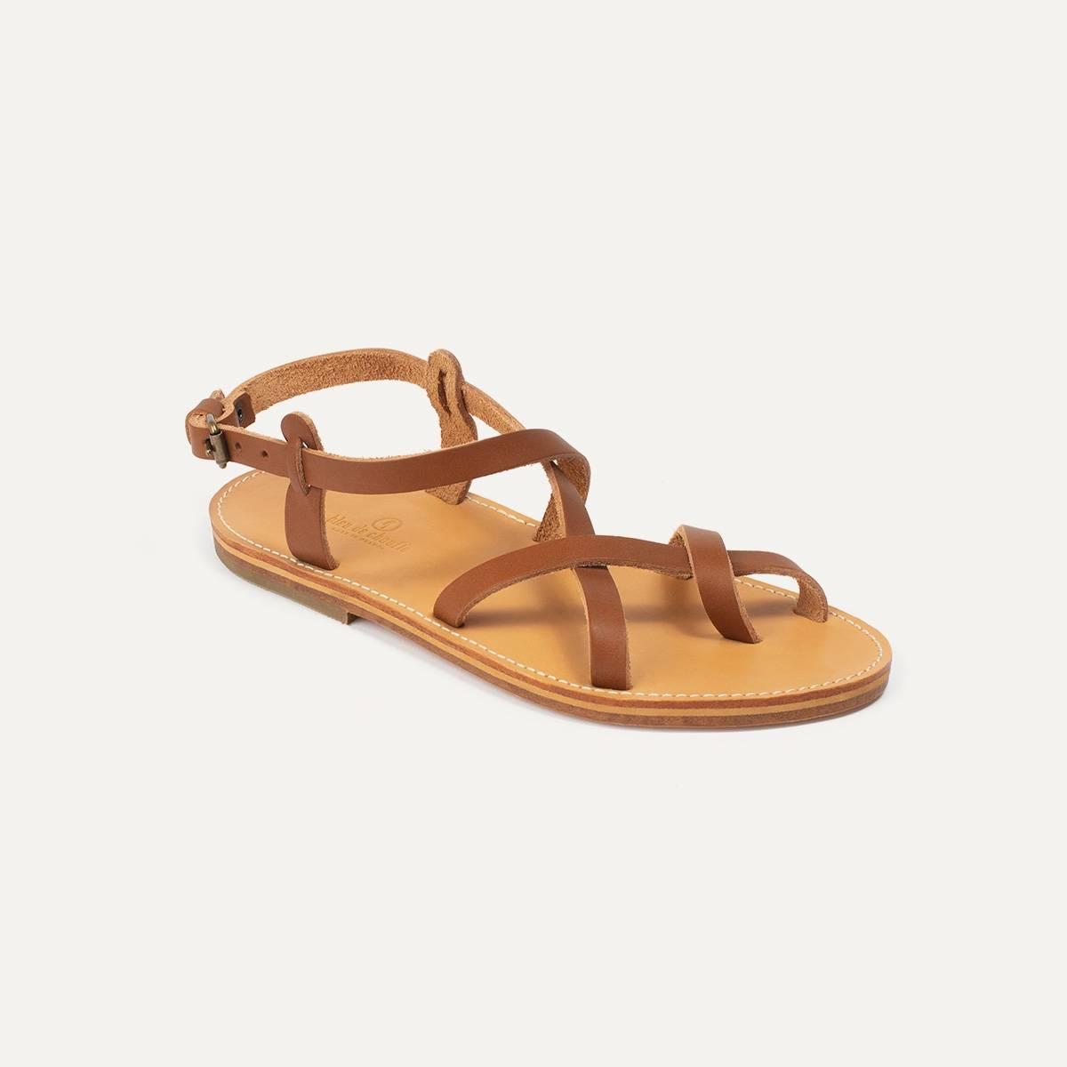 Nara leather sandals - Pain Brûlé (image n°2)