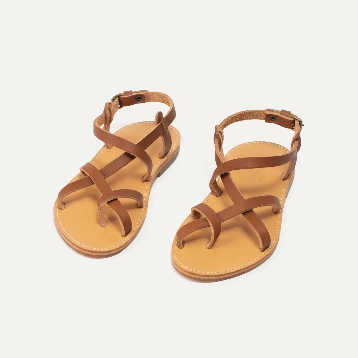 Nara leather sandals - Pain Brûlé (image n°5)
