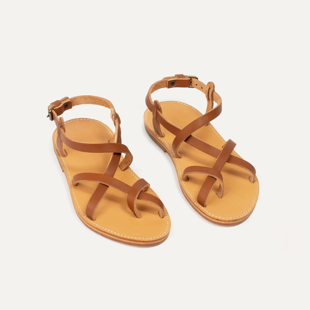 Nara leather sandals - Pain Brûlé (image n°4)