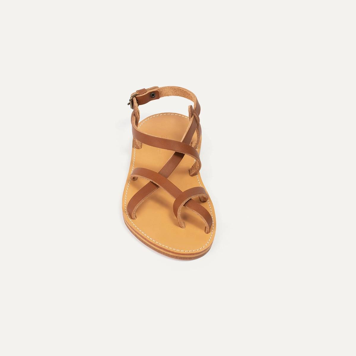 Nara leather sandals - Pain Brûlé (image n°3)