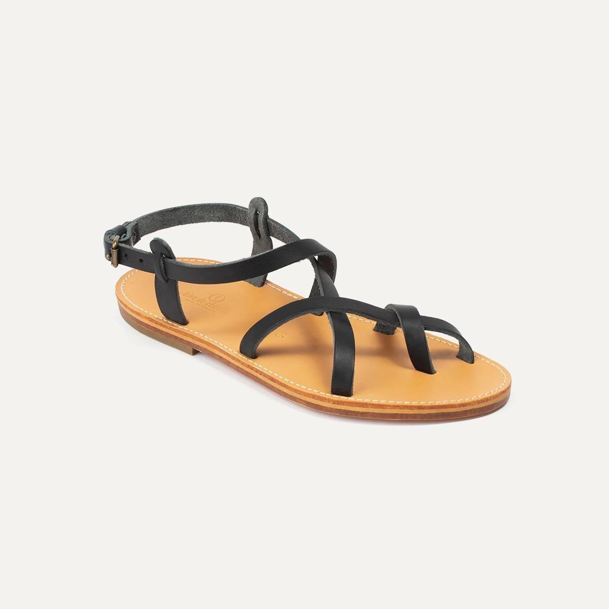 Sandales cuir Nara - Noir (image n°2)