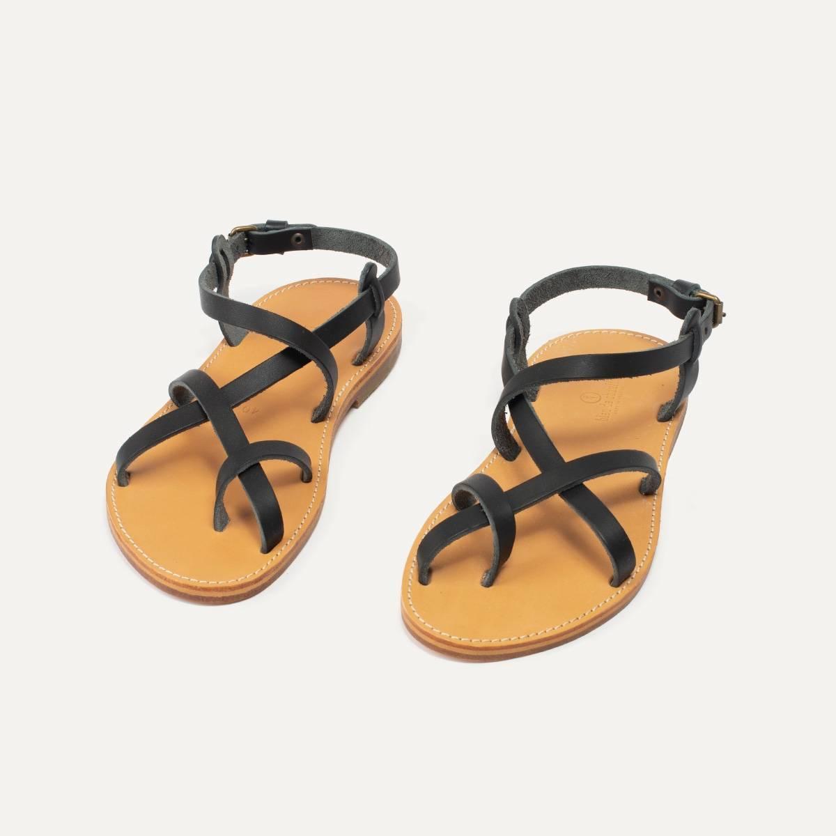 Sandales cuir Nara - Noir (image n°5)