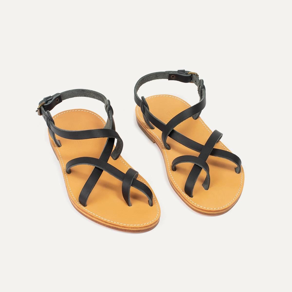 Sandales cuir Nara - Noir (image n°4)